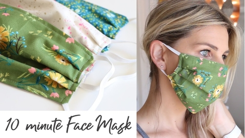 Thumbnail for entry DIY Face Mask with Elastic in 10 minutes - Sewing Tutorial
