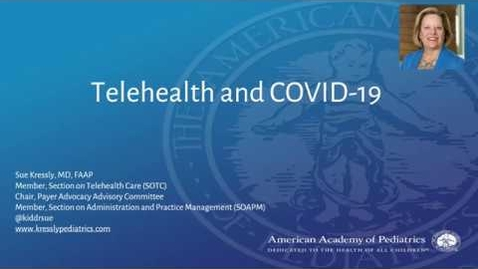 Thumbnail for entry Pediatric and Family Telehealth and COVID-19