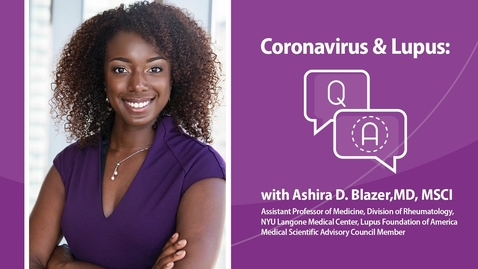 Thumbnail for entry Coronavirus and Lupus - Update March 20, 2020