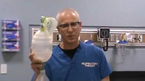 Thumbnail for entry Bagging a Patient--Getting Ready to Use a Manual Resuscitator on a Patient for Manual Ventilation