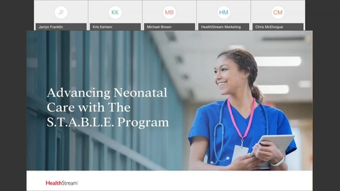 Thumbnail for entry Advancing Neonatal Care with the S.T.A.B.L.E. Program- April 28, 2021