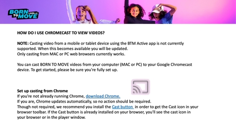 Thumbnail for entry HOWTO: How do I use Chromecast to view videos