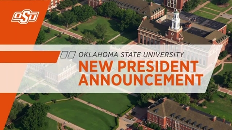 Thumbnail for entry Dr. Kayse Shrum Named 19th President of Oklahoma State University