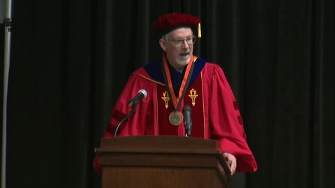 Thumbnail for entry REBROADCAST: Spring 2019 School of Global Studies and Partnerships Hooding Ceremony