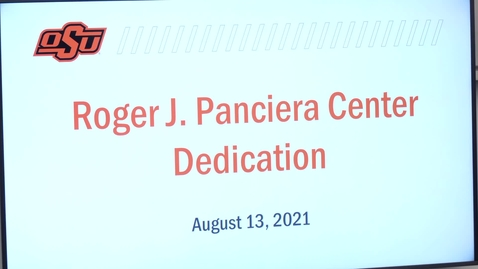 Thumbnail for entry OSU College of Veterinary Medicine Dedication of the Roger J. Panciera Education Center