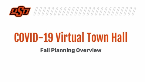 Thumbnail for entry  COVID-19 Virtual Town Hall Held August 26, 2021