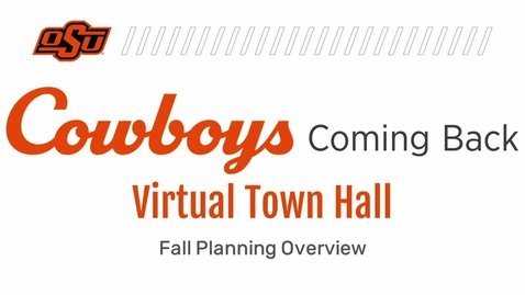 Thumbnail for entry REBROADCAST:  Cowboys Coming Back Virtual Town Hall for Students and Parents
