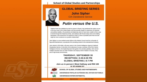 Thumbnail for entry Global Briefing Series:  Putin versus the U.S.