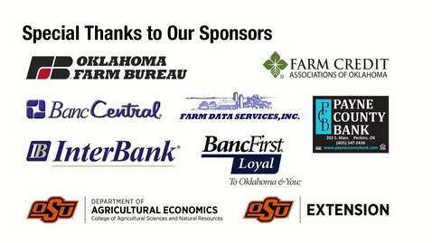 Thumbnail for entry REBROADCAST:  Rural Oklahoma Economic Outlook Conference