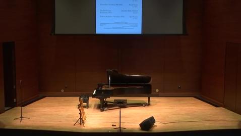 Thumbnail for entry Greenwood School of Music--Dr. Jeff Loeffert Faculty Recital
