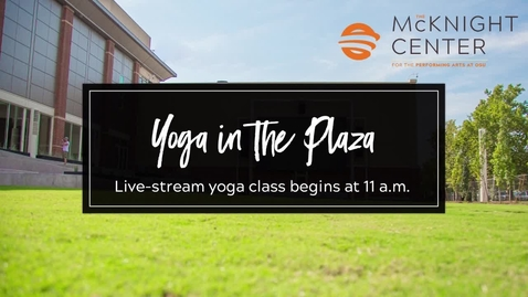 Thumbnail for entry LIVE Wednesday @ 11:00am:  Yoga on the Plaza