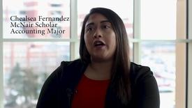 Thumbnail for entry Chealsea Fernandez - McNair Scholar