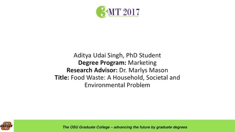 Thumbnail for entry Aditya Udai Singh, PhD Student: Food Waste: A Household, Societal and Enviornmental Problem