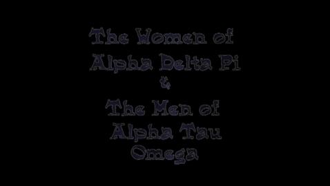 Thumbnail for entry Freshman Follies 2013: Alpha Delta Pi/Alpha Tau Omega