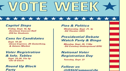 Thumbnail for entry VOTE WEEK:  Pies and Politics