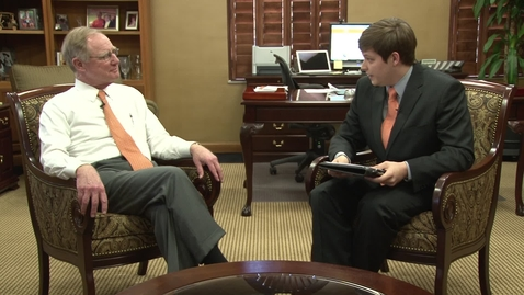 Thumbnail for entry OStateReport Interview With President Burns Hargis (part 1 of 4)