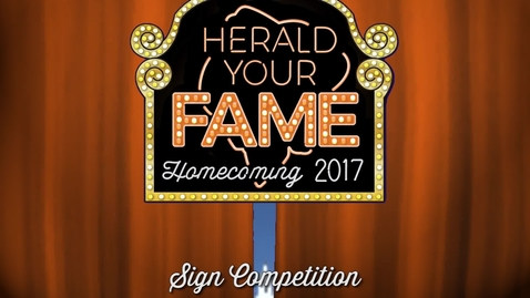 Thumbnail for entry Homecoming 2017: Sign Competition