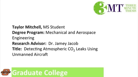 Thumbnail for entry 3 Minute Thesis: Taylor Mitchell