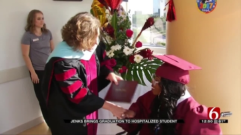 Thumbnail for entry IN THE NEWS: Future OSU Student Battling Illnesses has Her High School Graduation Brought to Her