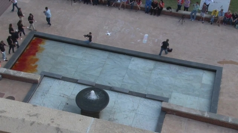 Thumbnail for entry HOMECOMING 2014 TIMELAPSE:  Dyeing the Fountain