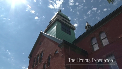 Thumbnail for entry What is The Honors Experience?