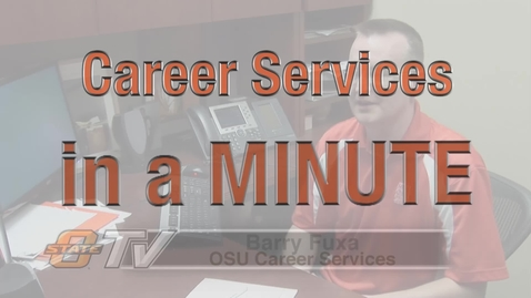 Thumbnail for entry Career Services in a Minute