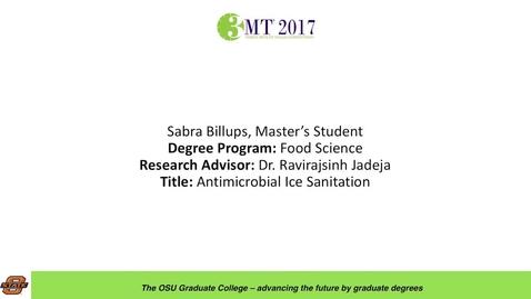 Thumbnail for entry Sabra Billups, Master's Student: Antimicrobial Ice Sanitation