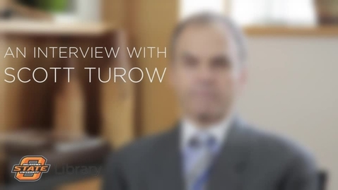 Thumbnail for entry An Interview with Scott Turow