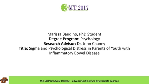 Thumbnail for entry Marissa Baudino, PhD Student: Sigma and Psychological Distress in Parents of Youth with Inflammatory Bowl Disease