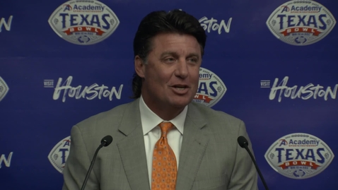 Thumbnail for entry Academy Texas Bowl:  Mike Gundy's Pregame Press Conference