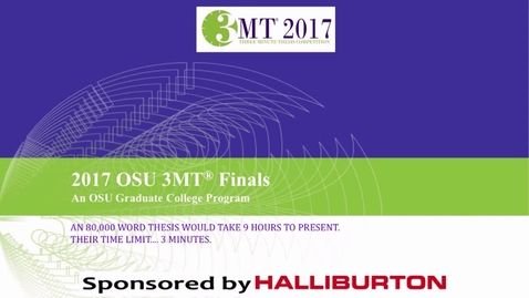Thumbnail for entry Graduate College 3-Minute Thesis Finals