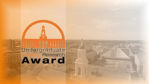 Thumbnail for entry Harrison Jackson, Winner of the 2014 Undergraduate Library Research Award