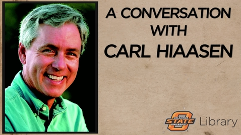 Thumbnail for entry A Conversation with Carl Hiaasen