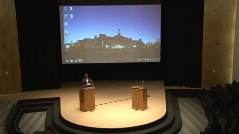 Thumbnail for entry SGA Vice-Presidential Debate 2-19-13