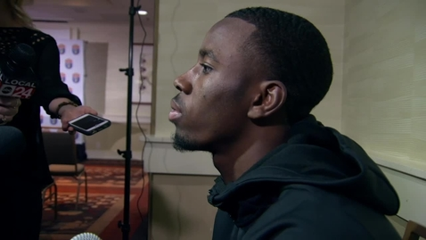Thumbnail for entry AUTOZONE LIBERTY BOWL:  A.J. Green Speaks to the Media