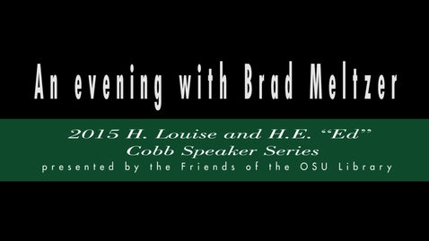 Thumbnail for entry An evening with Brad Meltzer