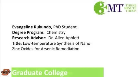 Thumbnail for entry Three Minute Thesis: Evangeline Rukundo