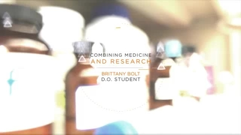 Thumbnail for entry Combining Medicine and Research