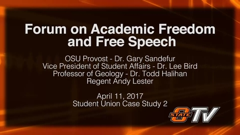 Thumbnail for entry REBROADCAST: Forum on Academic Freedom and Free Speech
