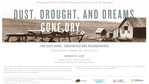 Thumbnail for entry Dust, Drought, and Dreams Gone Dry: Speaker Alvin Turner