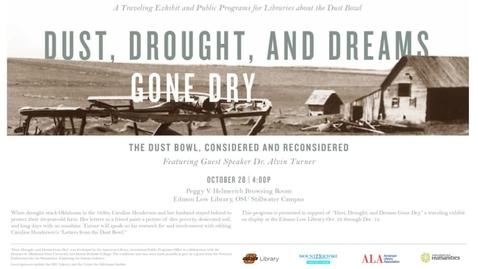 Thumbnail for entry Dust, Drought, and Dreams Gone Dry: Speaker Alvin Turner