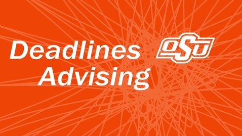 Thumbnail for entry Absentee Enrollment: Part IV - Deadlines, Advising and Services