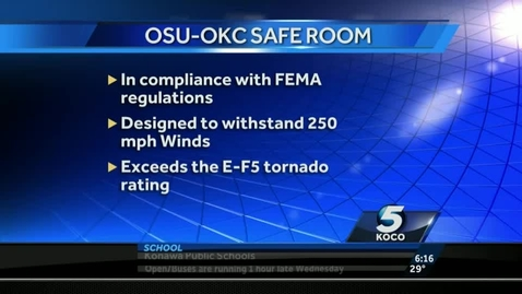 Thumbnail for entry IN THE NEWS:  OSU OKC Installs Safe Room For Child Development Labs