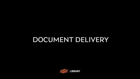 Thumbnail for entry Document Delivery at the OSU Library