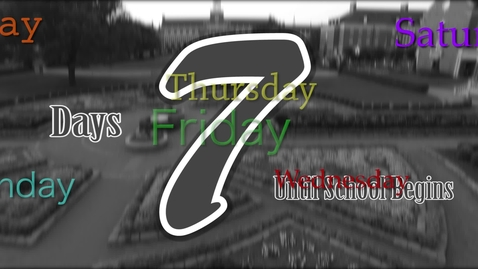 Thumbnail for entry The Countdown Begins!