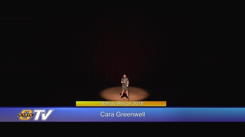 Thumbnail for entry Varsity Revue 2018:  Cara Greenwell Performance