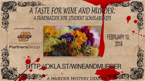 Thumbnail for entry A TASTE OF WINE AND MURDER