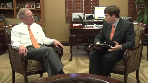 Thumbnail for entry OStateReport Interview With President Burns Hargis (part 2 of 4)
