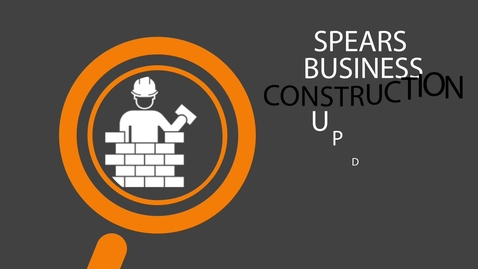Thumbnail for entry Spears Business Building Construction Update - September 2017