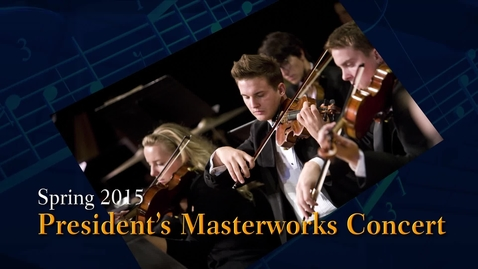 Thumbnail for entry OSU President's Masterworks Concert 2015